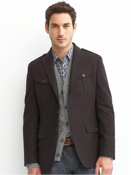 Banana Republic Tailored moleskin military item blazer