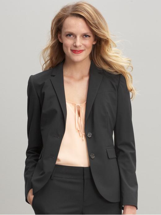 Banana Republic Tall lightweight wool black blazer