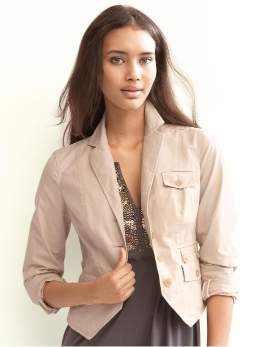 Banana Republic - Heritage Seamed Jacket :  cropped blazer jacket blazer banana republic heritage seamed jacket