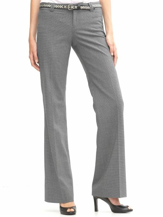 Banana Republic Petite Logan fit wide-leg puppytooth pant