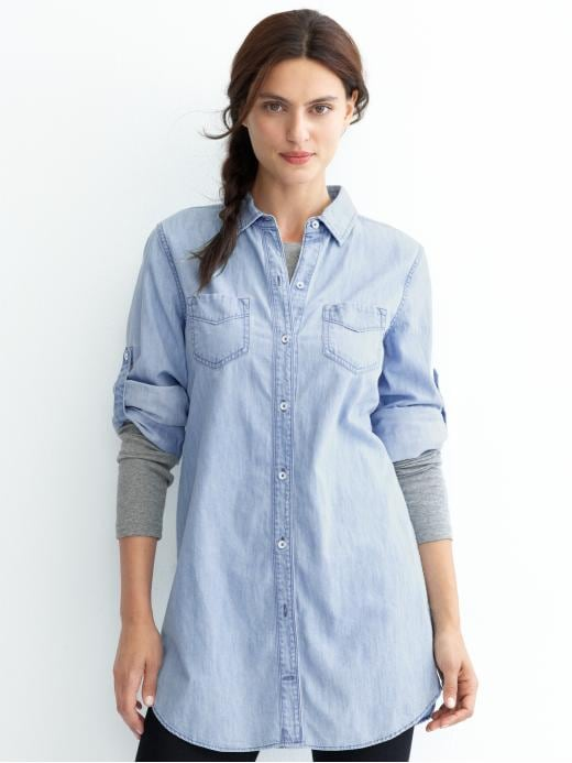 Banana Republic - Denim Tunic :  denim shirt banana republic denim light wash denim
