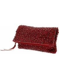 Jeweled foldover clutch