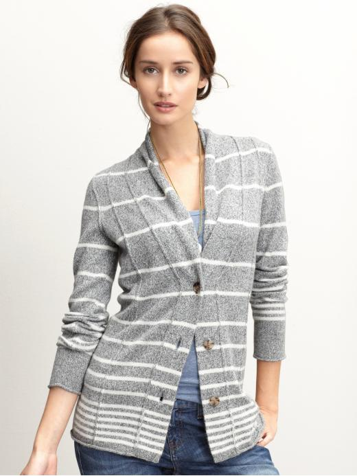 Banana Republic Striped shawl collar cardigan