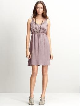 BR Monogram ruched goddess dress
