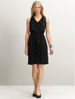 Cascading ruffle dress | Banana Republic