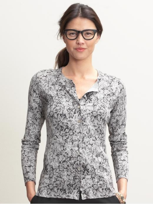 Banana Republic Phoebe lace print cardigan