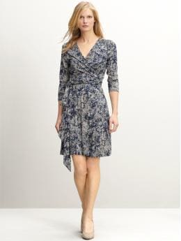 Gemma print wrap dress
