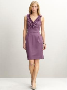 Brigitte double-knit ruffle dress  :  formal dress designer dresses fashion dress designer clothing