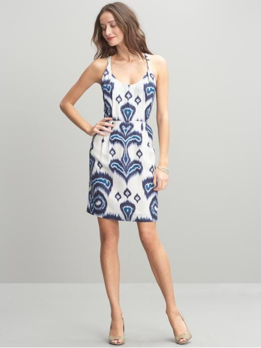 Banana Republic Silk Claire printed sheath