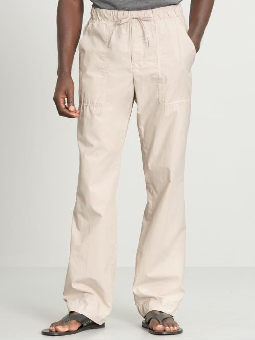 Banana Republic Relaxed cotton drawstring pant
