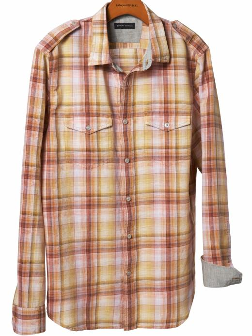Banana Republic Linen/cotton military-style shirt