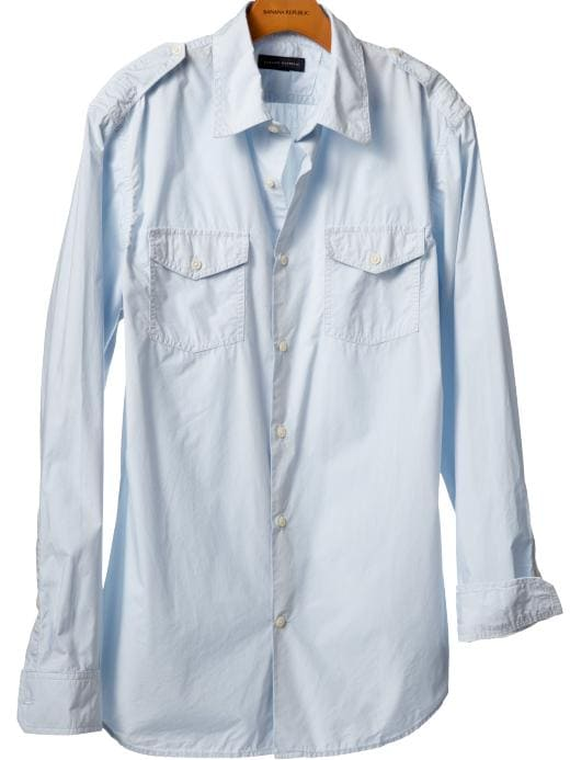 Banana Republic Cotton utility shirt