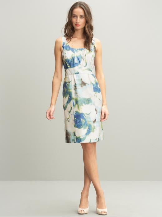 Banana Republic Silk abstract floral dress