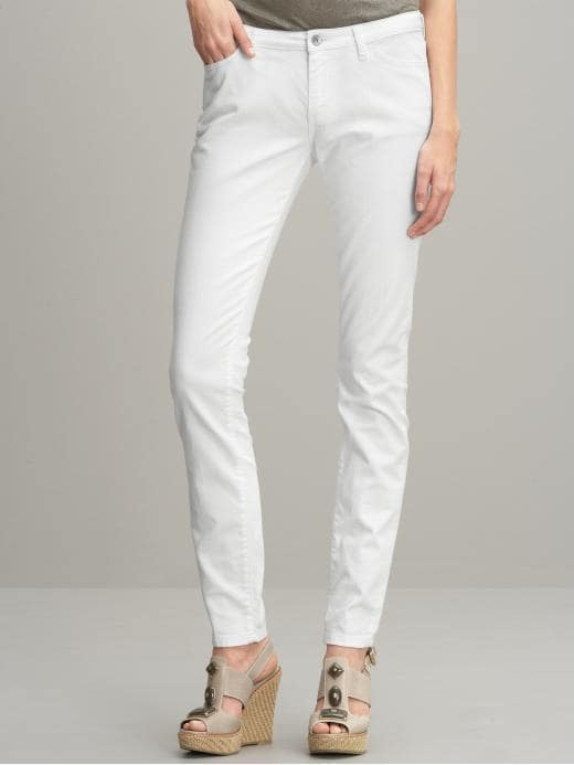 Banana Republic Ultimate skinny white jean