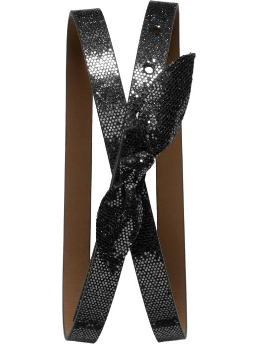 Banana Republic Glitter Bow Skinny Belt