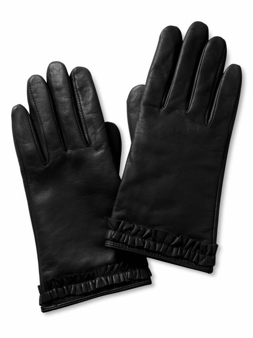 Banana Republic Leather Ruffle Glove