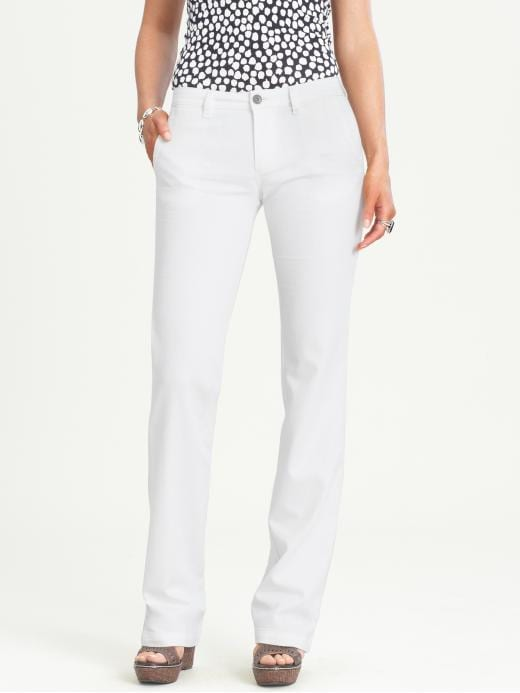 Banana Republic White Denim Trouser Pants