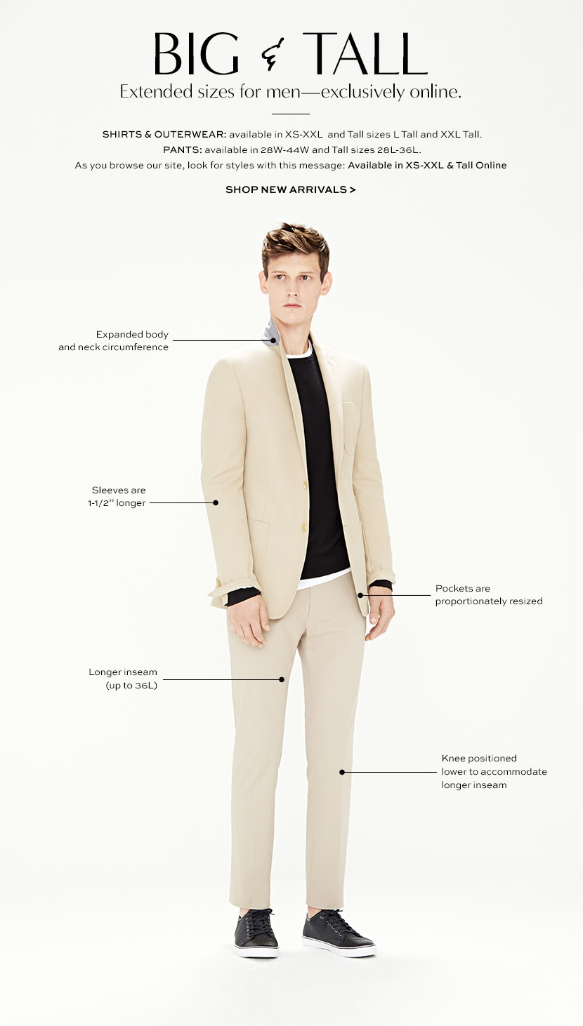 Big & Tall Men's Clothing: Shirts, Pants & Apparel | Banana Republic®