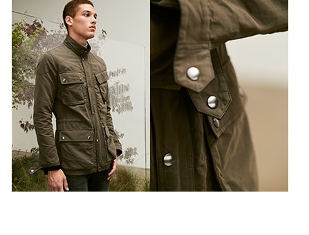 mens outer wear. background image