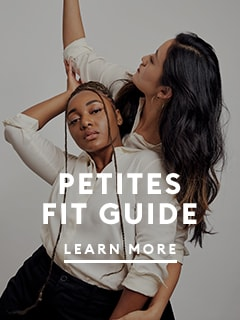 Petites fit guide.  text