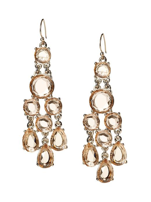 Banana Republic Clear Chandelier Earring