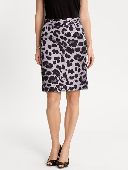 Banana Republic Animal Print Pencil Skirt