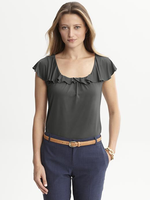 Banana Republic Flounce Top