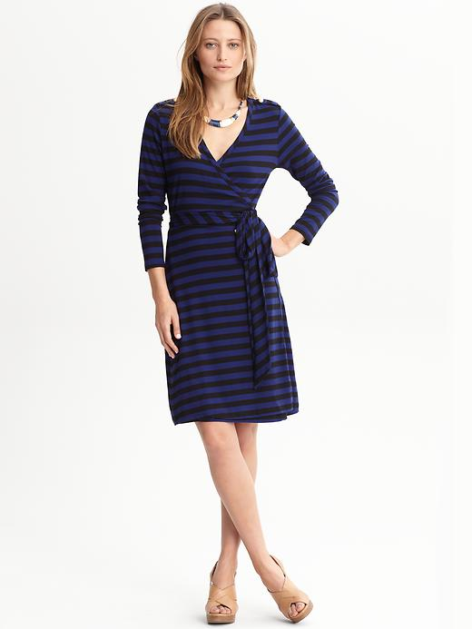 Banana Republic Zoey Striped Wrap Dress