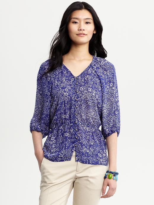 Banana Republic Riviera Medallion Blouse