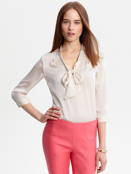 The Mad Men Collection Tie Neck Blouse