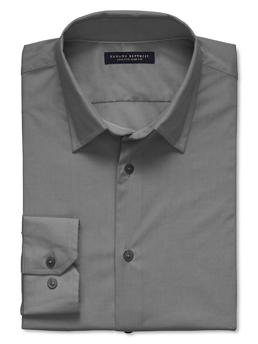 Banana Republic Slim Fit Stretch Dress Shirt - Charcoal