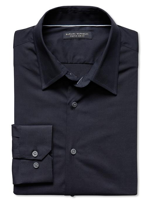 Banana Republic Slim Fit Stretch Dress Shirt - Navy