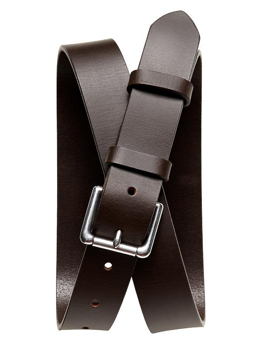 Banana Republic Double Loop Leather Belt Size 44 - Brown