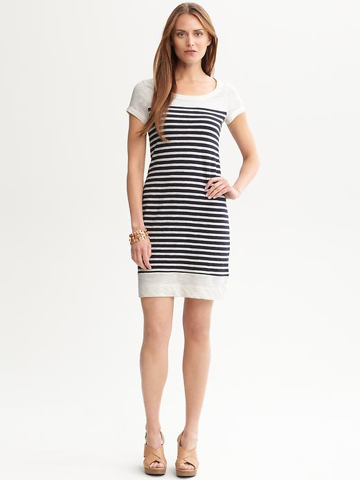 Banana Republic Bordered T Shirt Dress