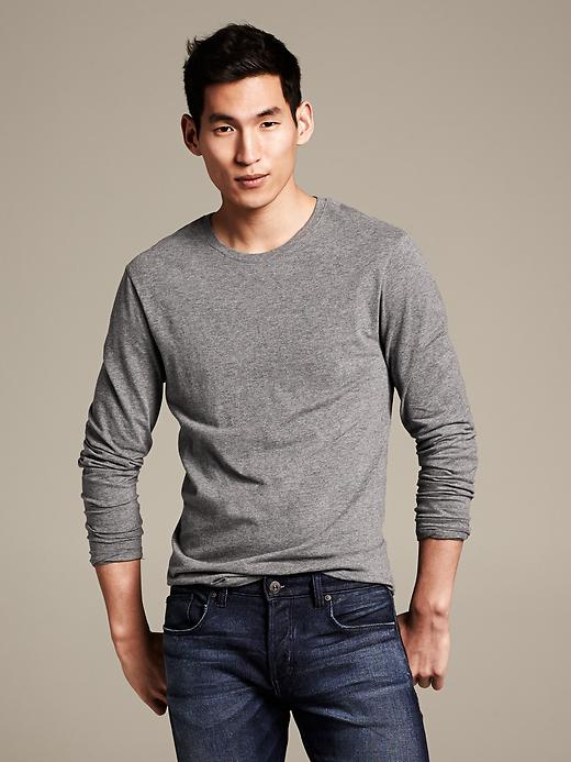 Banana Republic Soft Wash Crew Neck Long Sleeve Tee - Tarpoon