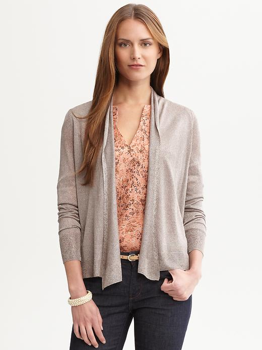 Banana Republic Heritage Cropped Open Cardigan