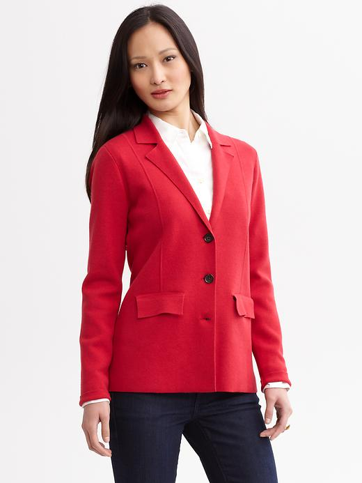 Banana Republic Seamed Knit Blazer