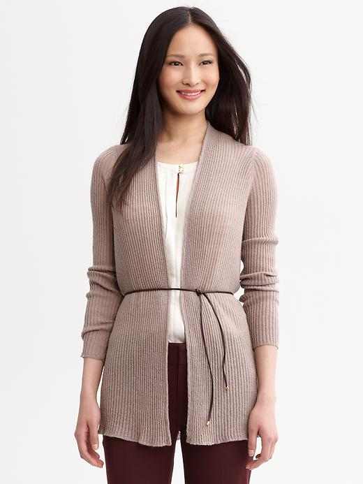 Banana Republic Ribbed Belted Long Cardigan