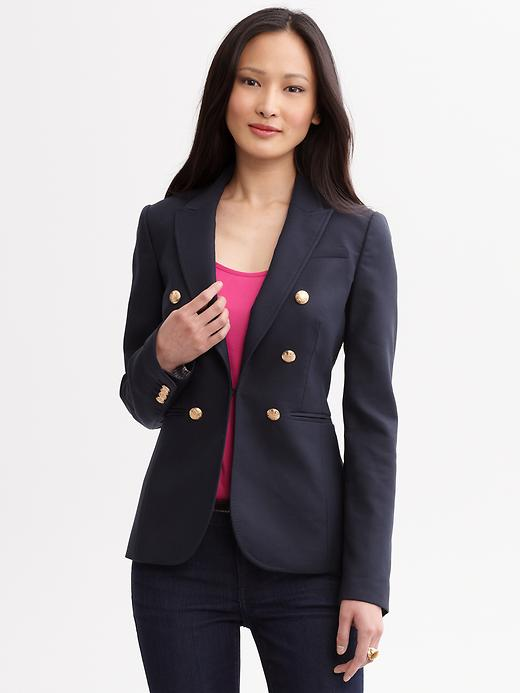 Banana Republic Navy Double Breasted Blazer