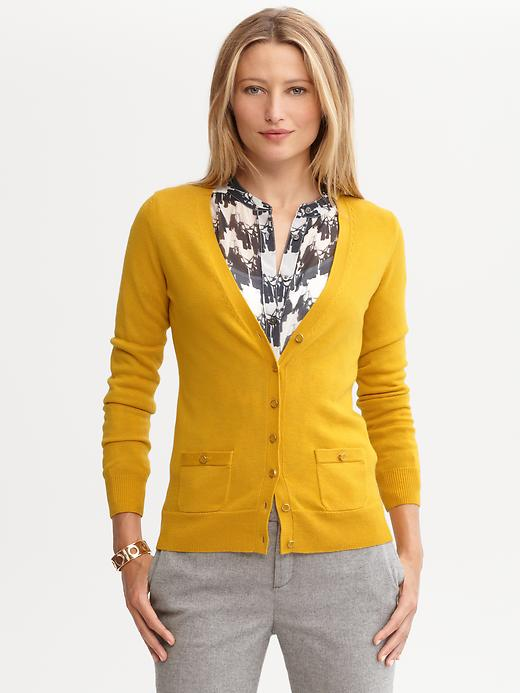 Grosgrain Button Cardigan