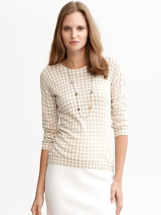 Houndstooth Slim Sweater
