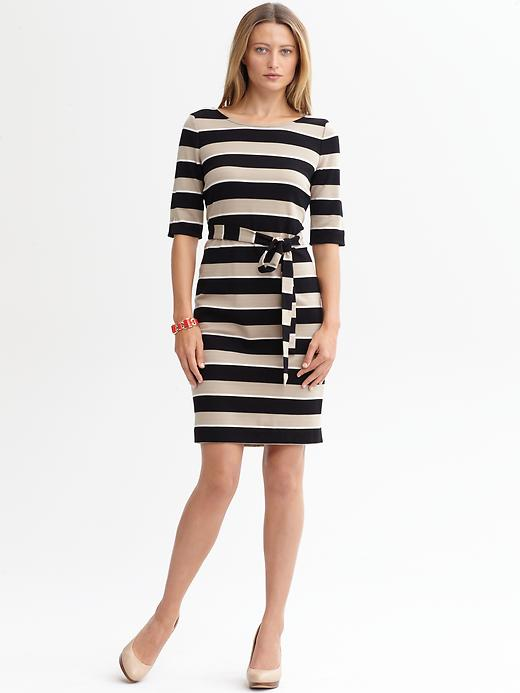 Banana Republic Stripe Knit Belted Dress