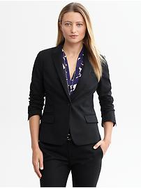 Sleek suit blazer