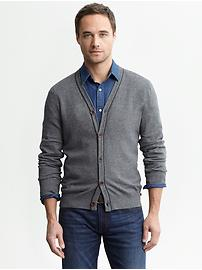 Heritage piped cardigan