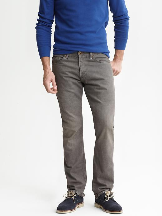 Banana Republic Vintage Straight Grey Jeans