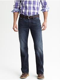 Relaxed fit indigo jean
