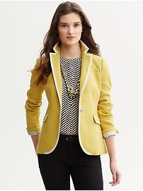 Tipped one-button blazer