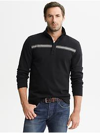 Chest stripe half-zip pullover