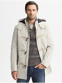 Heritage hooded toggle jacket