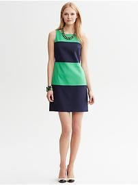 Textured Colorblock Sheath